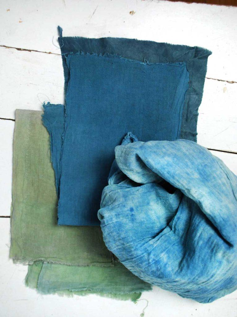 Baumwolle blau färben mit Indigo