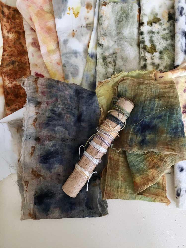 Bundle Dye Stoffproben in vielen Naturtönen