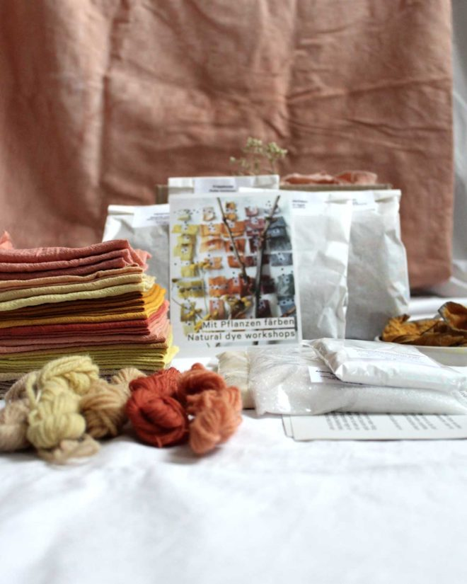 Dyeing with plants – ingredients of starter kit