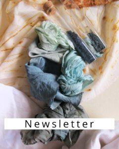 Stoffe mit Pflanzen faerben - Newsletter