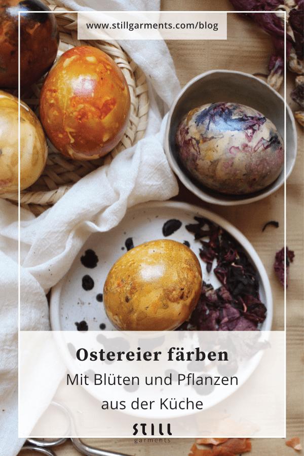 Eier faerben mit Pflanzen - bei Pinterest merken